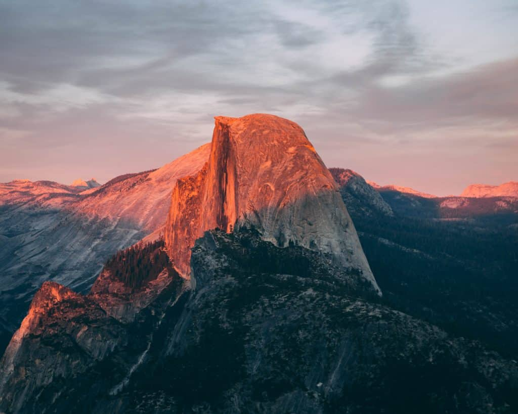 half-dome-sunset-yosemite-vacation