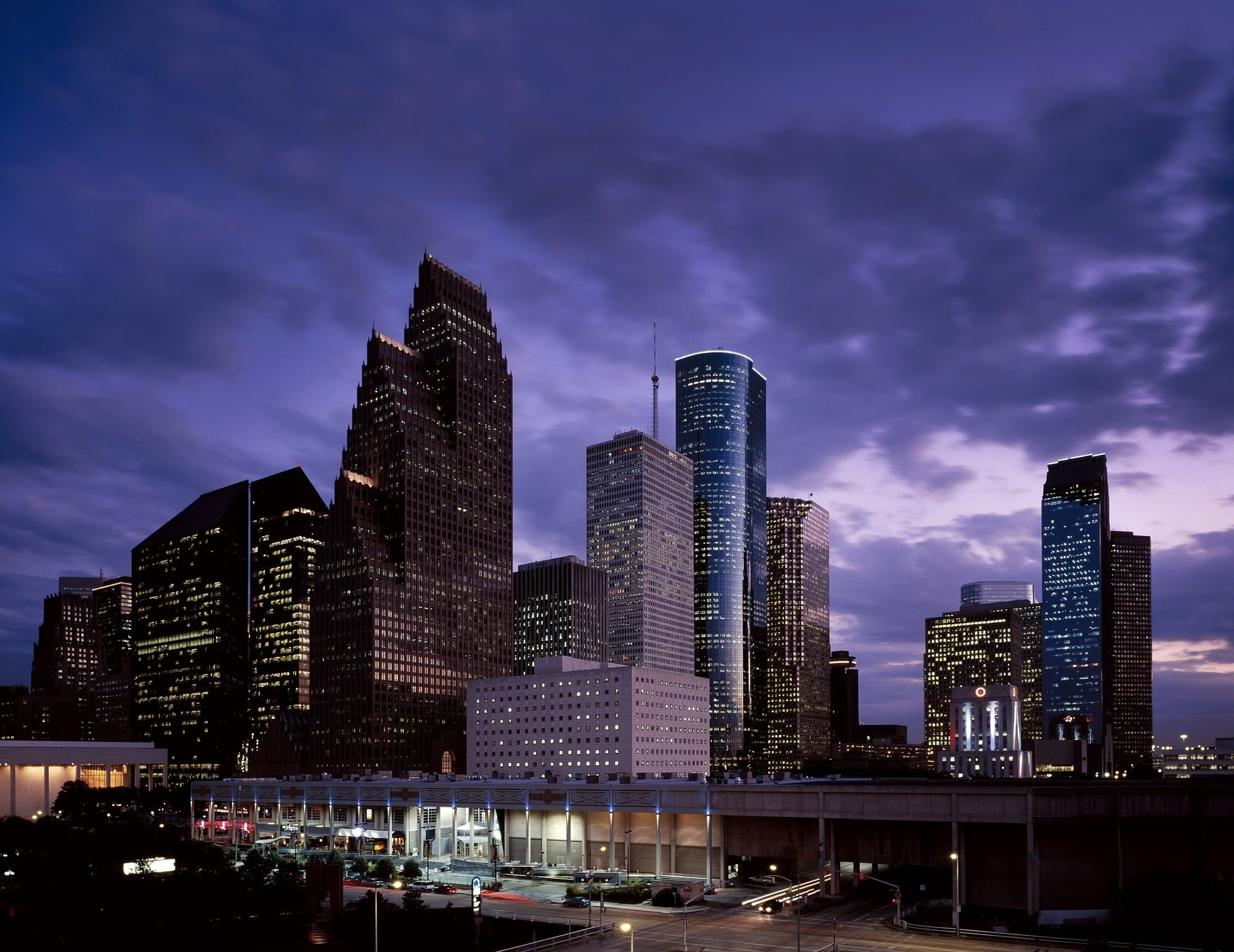 Skyline, houston, dusk