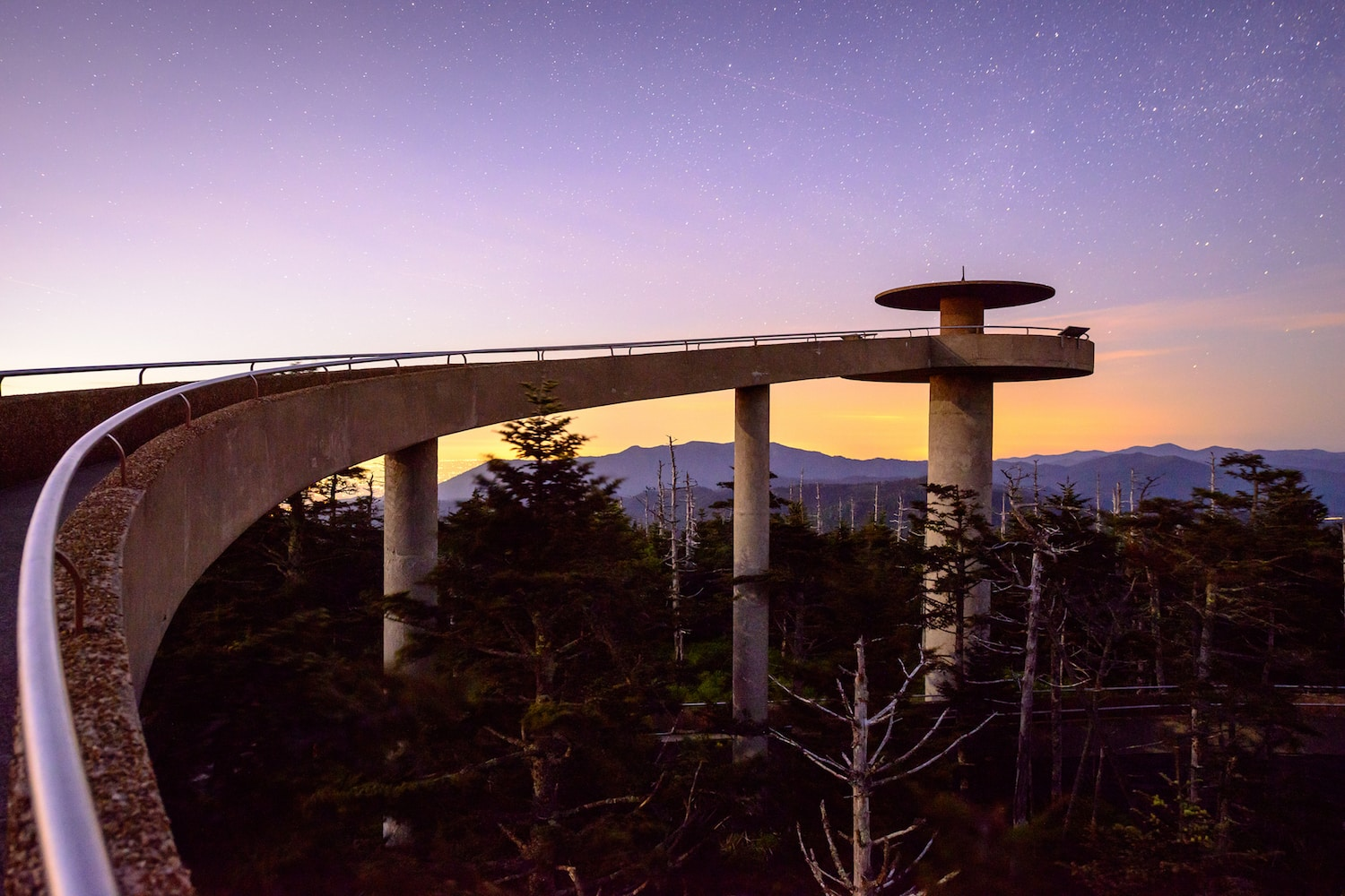 clingmans-dome-purple-sky