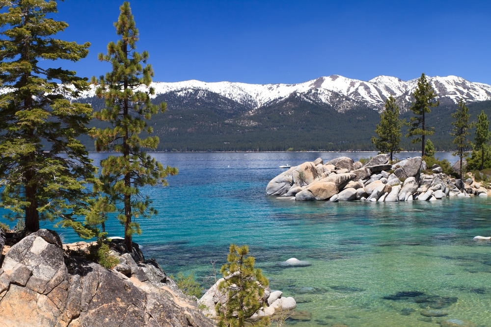 lake-tahoe-with-snowy-mountains