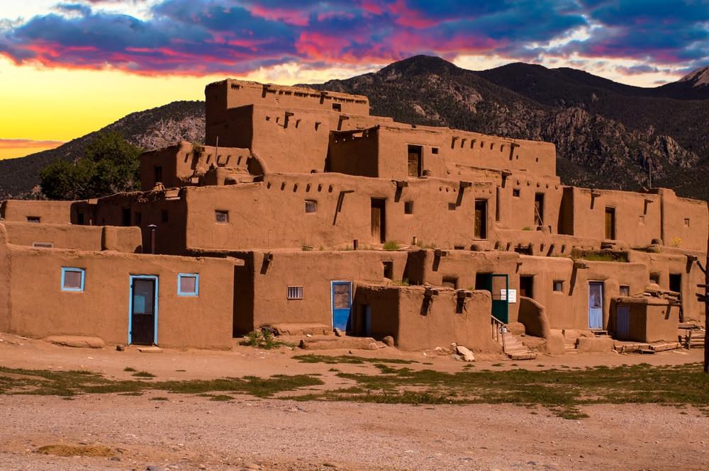 taos-pueblo-at-sunset