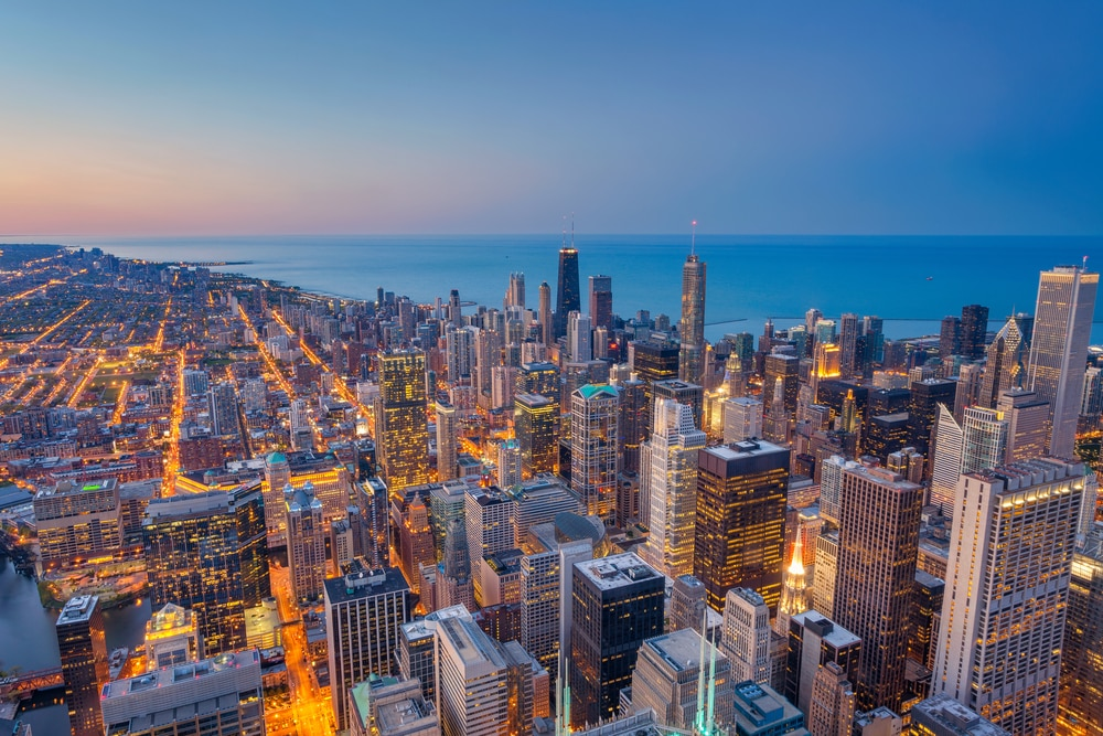 chicago-skyline-at-sunset