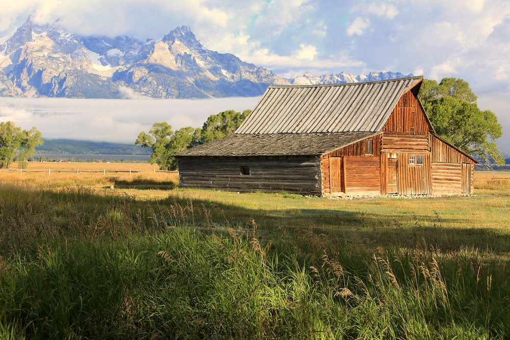 cabin-with-wyoming-landscape